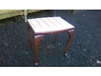 Petite vintage 1950s dressing table stool