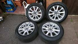 Alloys for mazda 6 with tyres