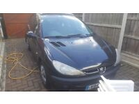 Peugeot 206 for sale, 1100cc, 5 door, Manual gearbox, great learner car. year of manufacture 2001