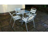 Garden table 4 chairs