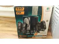 Logitech x-530 surround sound - great condition* reduced £45 ono