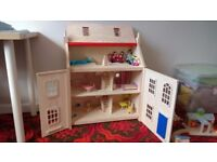 Pintoy Wooden Marlborough Dolls House. Perfect condition.