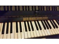 Rud ibach upright black working piano. Over 100 years old EXTREMELY HEAVY