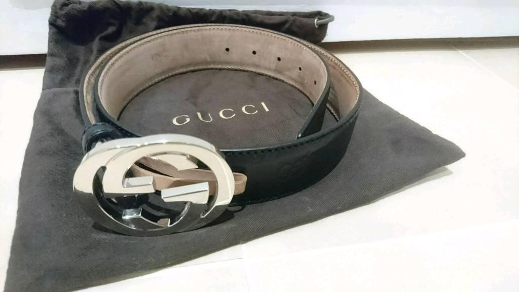 25571f5f7 Gucci signature black leather belt RRP£270 | in Mill Hill, London ...