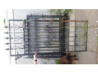 Wrought Iron gates plus posts