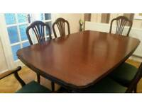 William Lawrence Mahogany table and 8 chairs