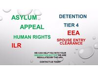 Immigration Solicitors, Asylum, Appeal, ILR, EEA, FLR, Detention, Tier 4, Entry Clearance, HR