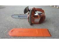 Husqvarna powerful top handle chainsaw