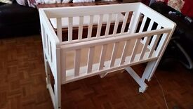 Wooden baby crib from John Lewis for sale