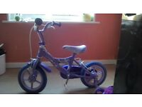 GIRLS BIKE PRACTICALLY NEW. Age 2 /3 years Tinkerbell and friends
