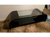 Modern stylish glass TV Stand black high quality unique