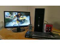 SSD HP 8000 Elite Business PC Desktop Computer & LG 20 Widescreen Monitor