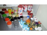 Loads of storage jars and Containers,for preserves, jams, crafts, arts, storage.