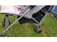 Maclaren quest stroller - pink/grey