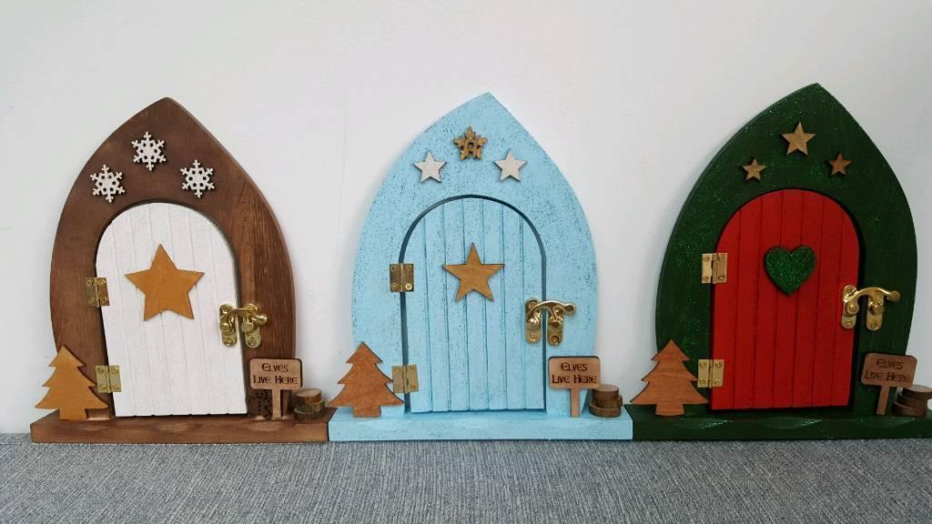 Christmas elf door decoration