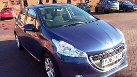 Peugeot 208 Hatchback Blue 63 Plate 29,600 Miles. FSH, MoT & Taxed