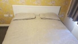 White king size bed