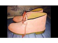 Pink clarks originals Desert boots (NEW)