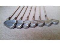Vintage Nicoll O'Leven golf clubs