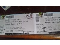 2 X THURSDAY TICKETS FOR KENDAL CALLING