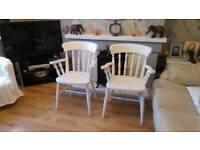 2 x kitchen dining table chairs