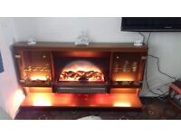 Electric fire with display cabinet surround