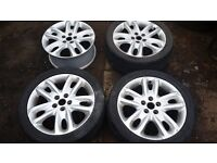 "Set of 17"" Ford / Jaguar Sport Alloy Wheels & Tyres - Mondeo, X-Type, S-Type, C-Max, Transit Connect"