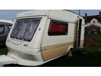 Much-loved Fleetwoood Garland 1992 2-berth caravan good working order.
