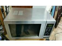 Stainless steel microwave COOKWORKS touch control nonstick