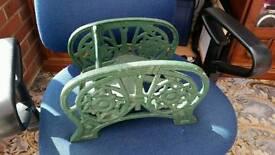 Victorian cast iron boot scraper architectural antique j.west & son's star floral