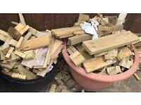 Free outdoor burning wood