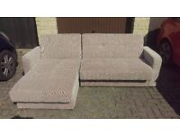 Florida Corner Storage Sofa bed, brown/beige, reduced to £250 ono