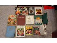 A selection of cookery books