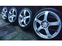 "17"" Kei racing Fuji Alloy wheels 5x114.3 for Honda Civic Toyota Mazda Nissan Mitsubishi Lexus"