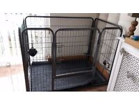 Dog play pen large 80cm x 125cm x 90cm. One year old.