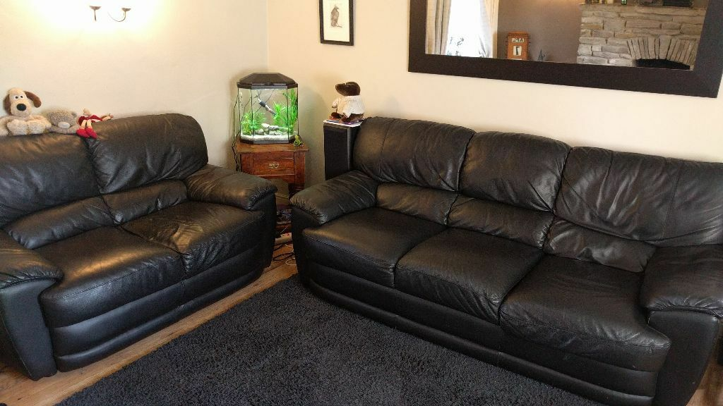 Black Soft Leather Sofas J H Hicolity 3 Seat 2 160
