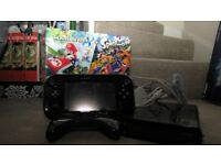 Wii U Premium Pack - black Wii U + Splatoon + Mariokart 8 + GamePad + extra wireless controller