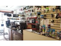 Shop Leaase Running Business for sale Almost free Rent
