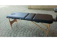 Black Leather Massage Couch