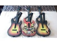 3 * Guitar Hero Guitar Controllers for Sony PlayStation 3 / 4 - PS3 / PS4 - For Parts Or Not Working