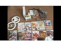 Nintendo Wii controllers and various games