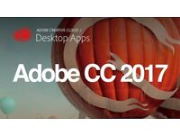 Adobe CC 2017 Photoshop , Illustrator , Premiere Pro , LightRoom for Windows / Macbook / Imac