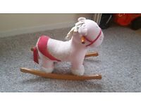 Mamma and pappa pink rocking horse