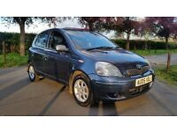 TOYOTA YARIS 1.3 COLOUR COLLECTION 05 PLATE 1OWNER FROM NEW 75000 MILES FULL SERVICE HISTORY AC 5DR