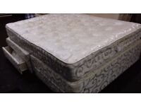 Double king size bed and mattress. Free delivery