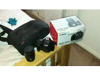 Canon eos 1100d with lens, box, bag and sd card