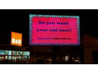 Led screen van advertising 5m sq