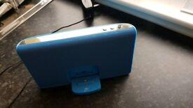 Ipod dock and speaker - blue