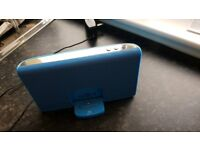 Ipod dock and speaker - blue