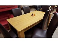 Caxton Table And 6 Chairs Oak Finish